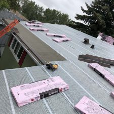 a roof under renovation process